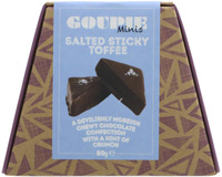 Goupie Minis Salted Sticky Toffee Chewy Chocolate Confection 80g