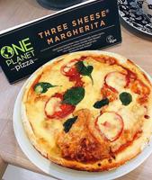 One Planet Pizza Three Sheese Margherita Vegan Pizza