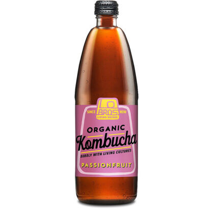 Lo Bros Passionfruit Kombucha Organic 750ml