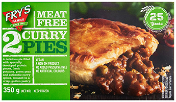 Fry's Meat Free 2 Curry Pies