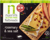 Nairn's Gluten Free Rosemary & Sea Salt Flatbreads
