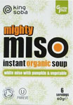 King Soba Mighty Miso Pumpkin & Vegetable Instant Soup Organic
