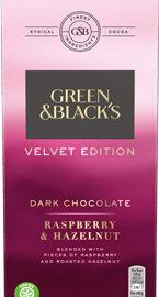Green & Black's Velvet Edition Raspberry & Hazelnut Dark Chocolate