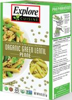 Explore Cuisine Green Lentil Penne Organic
