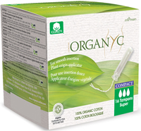 Organyc 'Super' Compact Applicator Tampons Organic