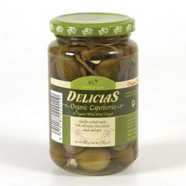 Delicias Organic Caperberries In White Wine Vinegar