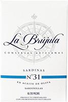 La Brujula Small Sardines in Olive Oil 16 – 20 Pieces
