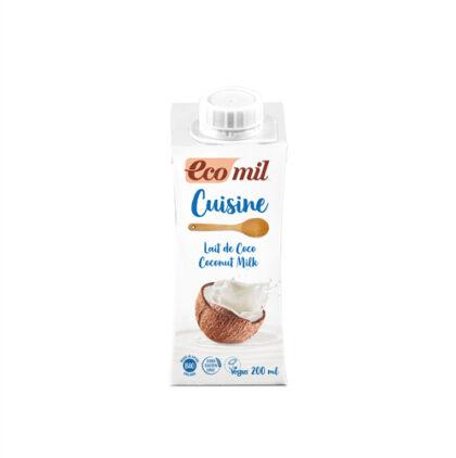 Ecomil Coconut Single Cream Organic 200ml