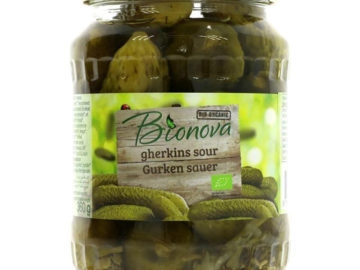 BioNova Sour Gherkins Organic 670g