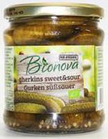Bionova Gherkins Sweet & Sour Organic