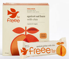 Doves Farm Freee Apricot Oat Bars With Chia Organic