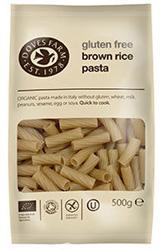 Doves Farm Gluten Free Brown Rice Tortiglioni Pasta Organic