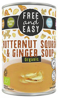 Free & Easy Butternut Squash & Ginger Soup Organic