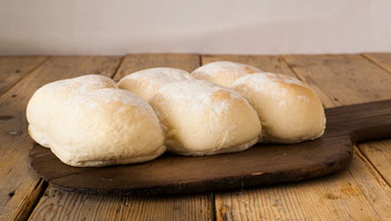 Hobbs House Bakery White Floury Bap Rolls