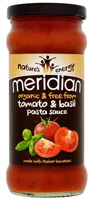 Meridian Free From Tomato & Basil Pasta Sauce Organic