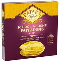 Patak's Cook at Home Plain Poppadoms