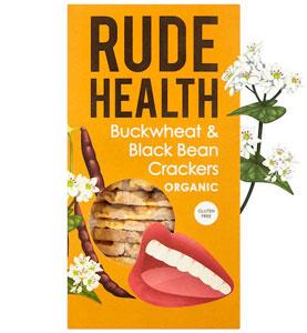 Rude Health Buckwheat & Black Bean Crackers Organic