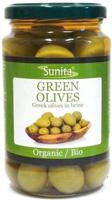 Sunita Green Greek Olives in Brine Organic