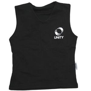 Ladies 'Unity' Yoga Vest Top ~ Organic Cotton