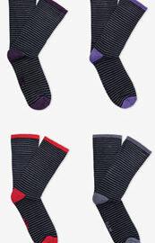 Bam Men's Stripey Luxury Bamboo Socks UK 8 – 11 Buckland