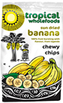 Tropical Wholefoods Chewy Banana Chips Organic Fairtrade