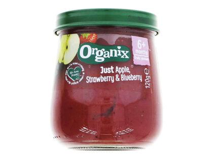 Organix Apple Strawberry & Blueberry Puree Organic