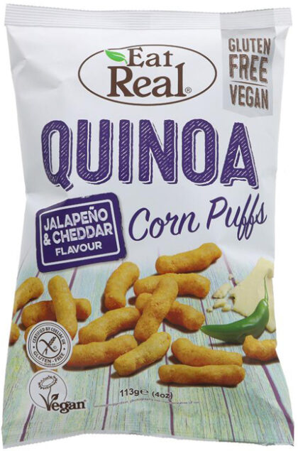 Eat Real Jalapeno & Cheddar Corn Puffs