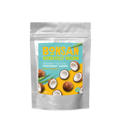 Bonsan Toasted Coconut Chips Spicy Turmeric Organic