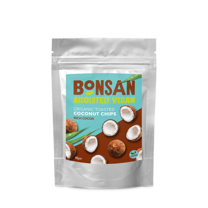 Bonsan Toasted Coconut Chips Rich Cocoa Organic