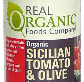 Real Organic Foods Company Sicilian Tomato & Olive Pasta Sauce