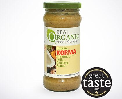 Real Organic Foods Company Korma Indian Cooking Sauce