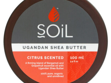 sOiL Ugandan Shea Butter Citrus Scented Organic