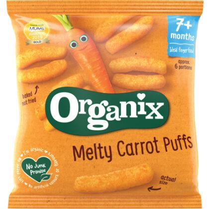 Organix Melty Carrot Puffs 7+ Months Organic