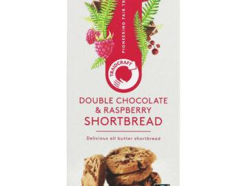 Traidcraft Double Chocolate & Raspberry Shortbread