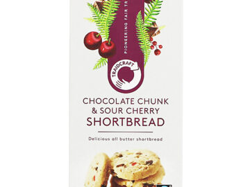 Traidcraft Chocolate Chunk & Sour Cherry Shortbread