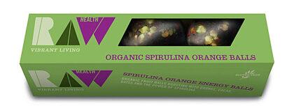 RAW Spirulina Orange Balls Organic