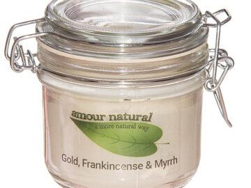 Amour Natural Frankincense & Myrrh Plant Wax Candle