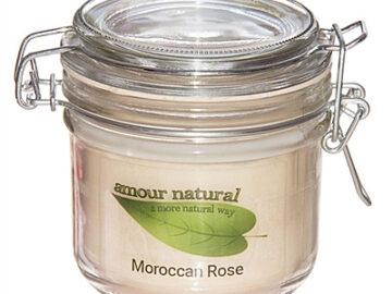 Amour Natural Moroccan Rose Plant Wax Candle