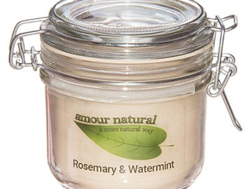 Amour Natural Rosemary & Watermint Plant Wax Candle