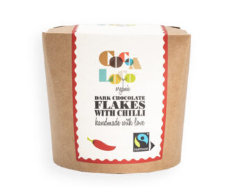 Cocoa Loco Dark Chocolate Flakes With Chilli Organic