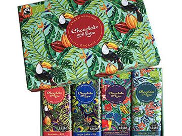 Chocolate & Love Dark Chocolate Gift Box Organic
