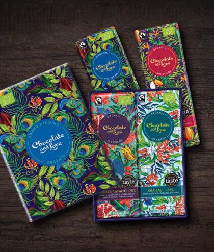 Chocolate and Love Rich Dark Mini Gift Box Organic
