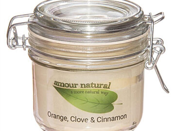 Amour Natural Orange Clove & Cinnamon Plant Wax Candle
