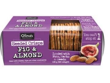 Olina's Bakehouse Fig & Almond Seeded Crisps
