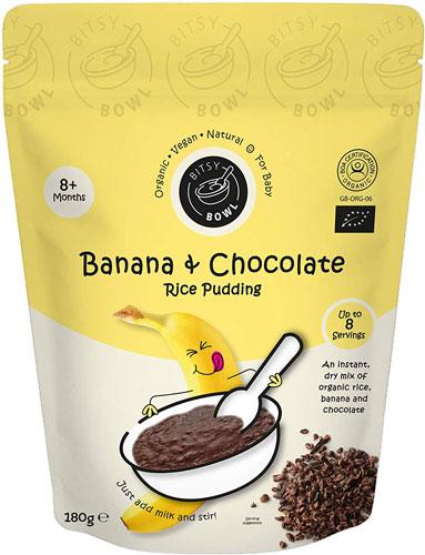 Bitsy Bowl Banana & Chocolate Rice Pudding 8+ Months
