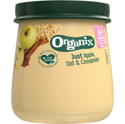 Organix Just Apple Oat & Cinnamon Food Organic