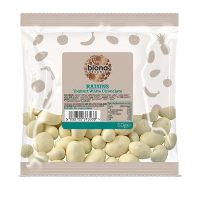 Biona Raisins Yoghurt White Chocolate Organic