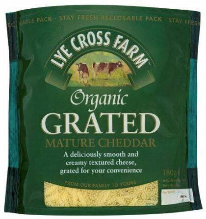 Lye Cross Grated Mature Cheddar Organic