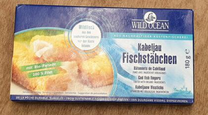 Wild Ocean Cod Fish Fingers coated with Organic Breadcrumbs