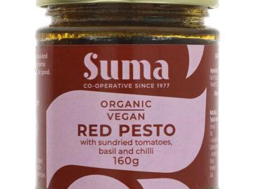 Suma Vegan Red Pesto with Sundried Tomatoes, Basil and Chilli Organic
